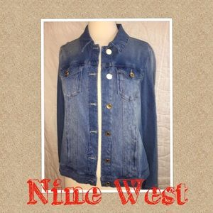Nine West Denim Jean Jacket Size Medium